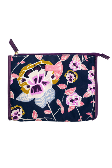 Jewelry Pouch, Navy Floral