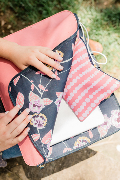 Laptop Case, Work For It (Poppy Floral)