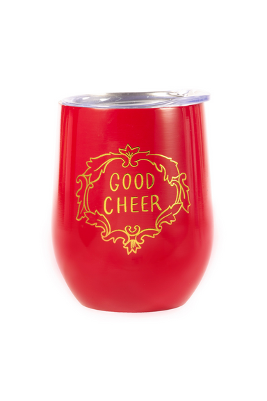 Stainless Steel Tumbler, Good Cheer (Red) (MH)