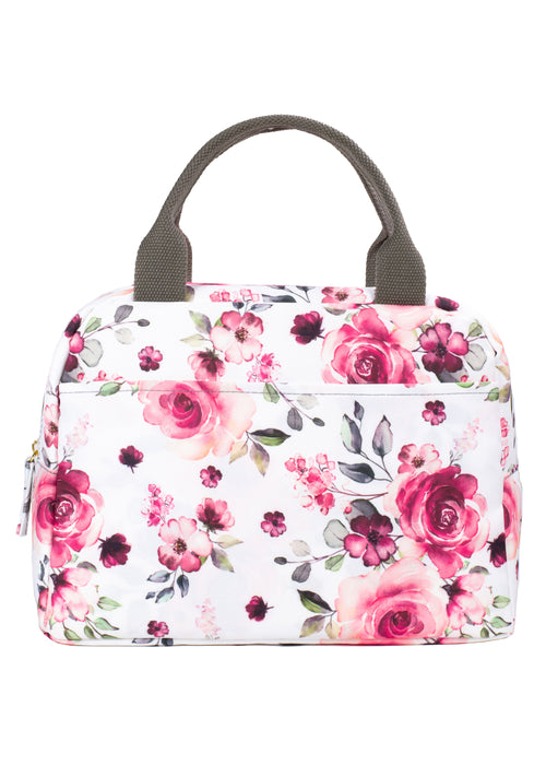 Medium Lunch Tote, Pink Floral