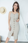 Business In The Front Dress - Khaki