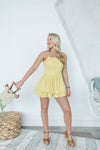 Walking On Sunshine Romper - Mustard