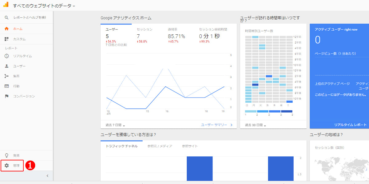 Google Analytics 設定方法1