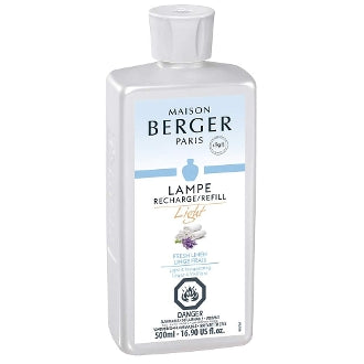 Fresh Linen LIGHT - Lampe Maison Berger Fragrance - 500Ml