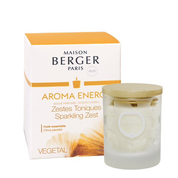 AROMA Energy Premium Candle- Clear - by Parfum Berger