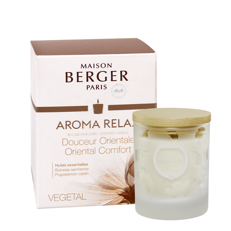 AROMA Relax Premium Candle- Clear - by Parfum Berger