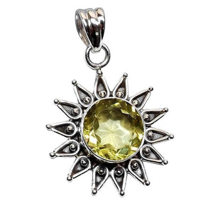 """The Sterling Silver Lemon Quartz Necklace."" Natural Gemstone. Offered by Elite Web Store."