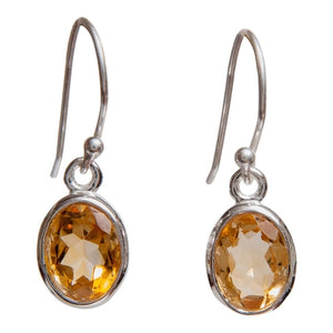 """Natural Gemstone Drops."" Women's Earrings. 3 Stone Color Options.  Offered by Elite Web Store."