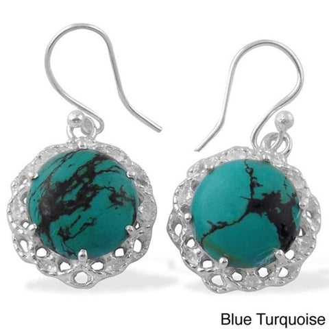 """Gloss Drops."" Sterling Silver Natural Gemstone Earrings. Offered by Elite Web Store."