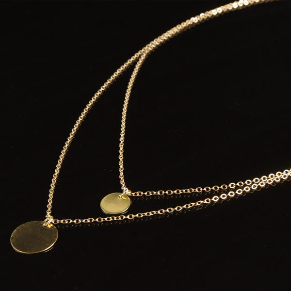Women's Double Layered Golden Colored Necklace. Offered by Elite Web Store.