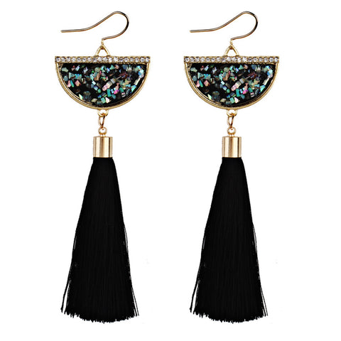 """Living on the Fringe."" Women's Earrings Vintage Design Long Fringe. Offered by Elite Web Store."