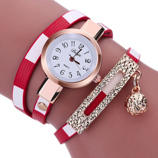 Women's Wrap-Around Styled Wrist Watch. 5 Color Options. Offered by Elite Web Store.