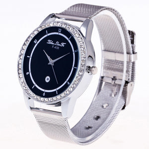 """The Traditional Stainless Steel Watch."" Stainless Steel Band & Dial. Offered by Elite Web Store."