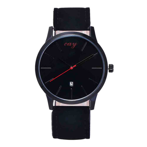 """The Faux Leather Band Watch.""  Analog Simple Clock Dial. Offered by  Elite Web Store."
