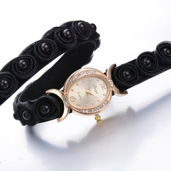 Women's Double Wrap Wrist Watch. 5 Colors. Offered by Elite Web Store.