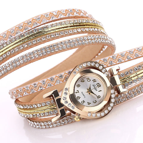 Women's Wrap-Around Style Wrist Watch, Heart Shaped Watch Face. Offered by Elite Web Store.