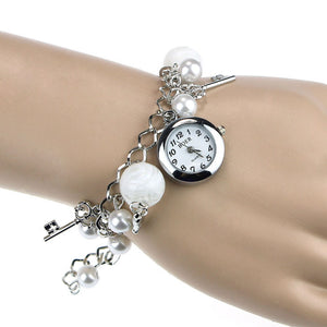 Women's Charm Bracelet Styled Wrist Watch.  Offered by Elite Web Store.