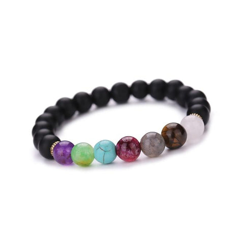 Versatile & Beautiful Beaded Bracelet, with One Buddha Stone & One Chakra Stone.