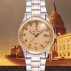 Luxurious Women's  Stainless Steel Single Band Quartz Wrist Watch.  Offered by Elite Web Store.