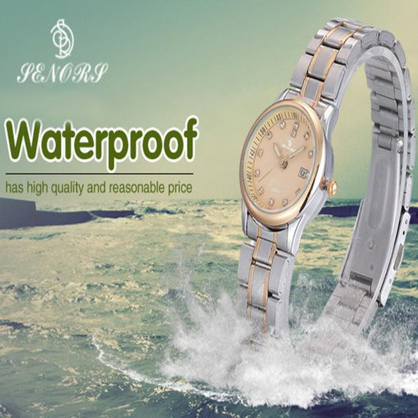 """The Luxurious Women's Watch."" Traditional Stainless Steel Single Band. Offered by Elite Web Store."