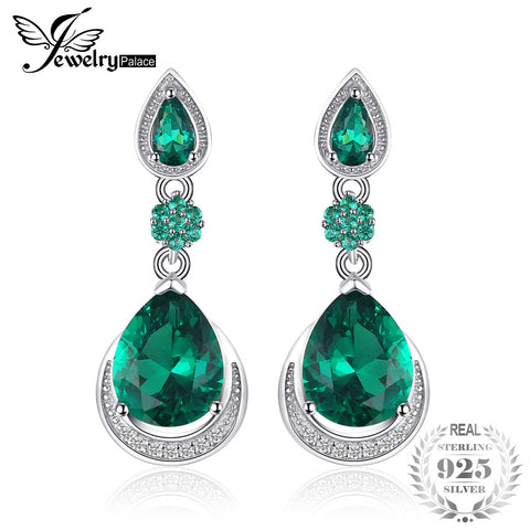 """Dripping in Green."" Women's Drop Earrings Created Gemstones. Offered by Elite Web Store."