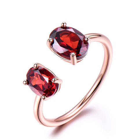 10.7 Ct Natural Garnet Ring 925 Sterling Silver Ring