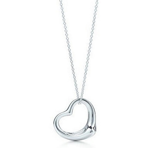 Silver Plated Heart Pendant Necklace, Very Simple & Elegant. People Seem to Love it!
