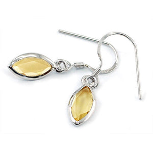 """Citrine Raindrops."" Women's Earrings Citrine Yellow Natural Gemstones. Offered by Elite Web Store."