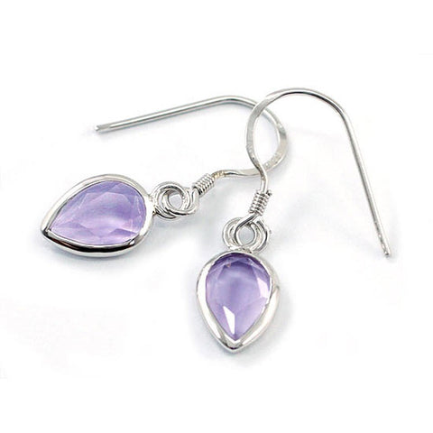 """Amethyst Pear Drops."" Women's Earrings Natural Gemstone Amethysts. Offered by Elite Web Store."