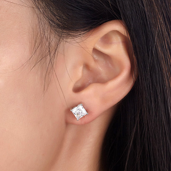 """The Sparkling Studs."" Women's Earrings 1 CT Clear Created Gemstones.  Offered by Elite Web Store."
