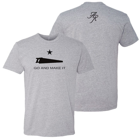 Andy Rawls Go and Make It T-Shirt Grey
