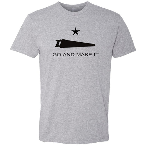 Andy Rawls Go and Make It T-Shirt Grey FRONT