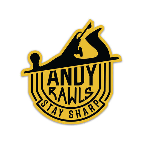 Andy Rawls Stay Sharp sticker