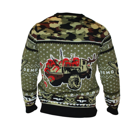 Camo Knitted Holiday Sweater 2020