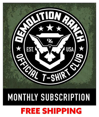 Demolition Ranch One Month T-shirt Subscription