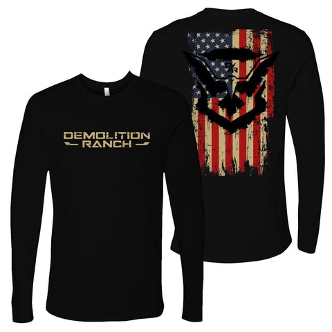 Demo Eagle American Flag Long Sleeve