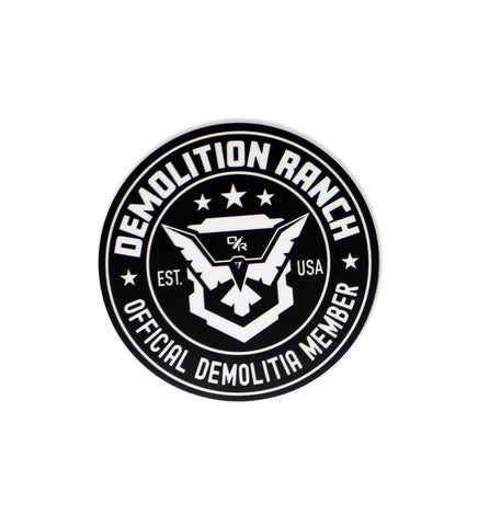Official Demolitia Member Sticker