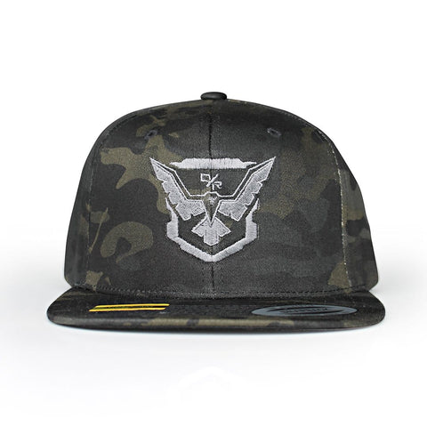 Demolition Ranch silver eagle Multicam Flat Bill Hat