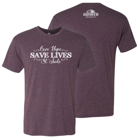 Give Hope, Save Lives, St. Jude shirt for a cause.