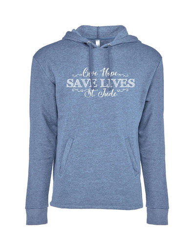 The Give Hope, Save Lives, St. Jude Women's Hoodie Front