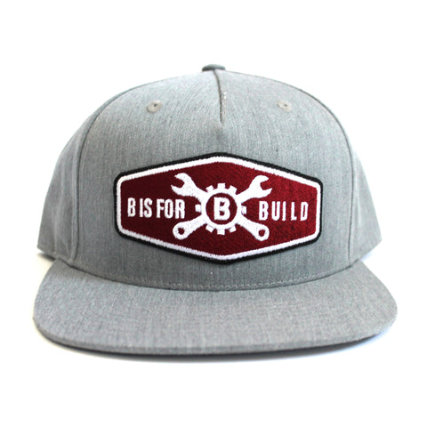 B is for Build Maroon Patch Hat