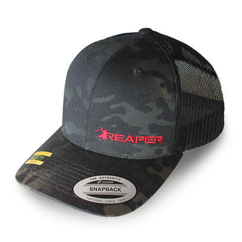 Nick Irving's Black Multicam Reaper Cap.