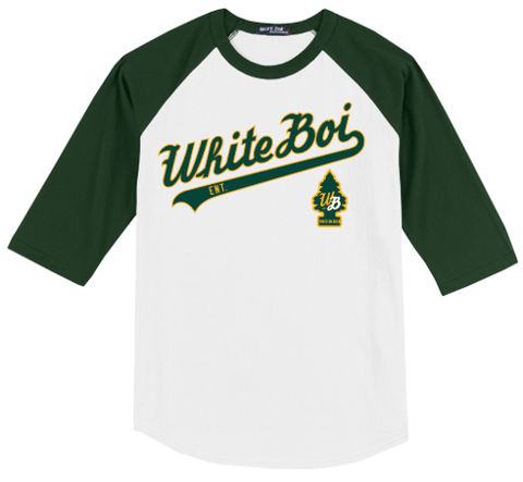 White Boi Baseball Tee