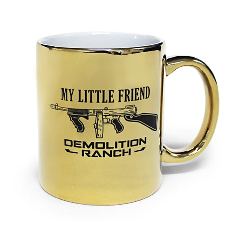 The Gold Tommy Gun Demolition Ranch Coffee Mug