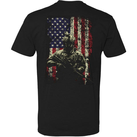 Veterans Day Shirtv- Stand Proud shirt back with flag