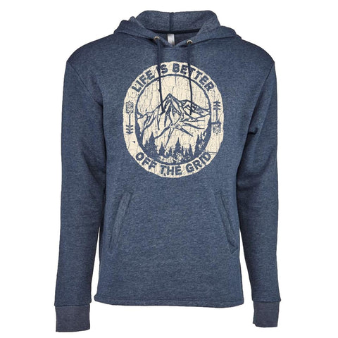 Life is Better Off The Grid Hoodies