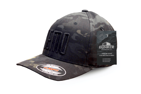 DEMO Black Multicam Flexfit Hat - Bunker Branding Co. 4f14ad5da0f