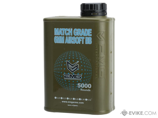 EMG International Match Grade 6mm Airsoft BBs - 5000 Rounds (Weight: .25g)