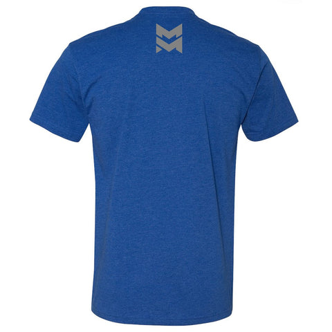 The Marksmen Blue Shirt back