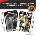 Star Wars & Gi-Joe 3.75 inch Carded Action Figures - Collectibles Blisters for Storage/Display  - PET Protector Pack of 25